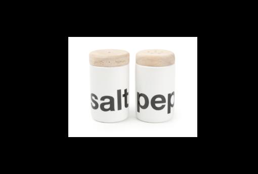 Peper -en zoutstel Salt & Pepper White Loft keramiek wit