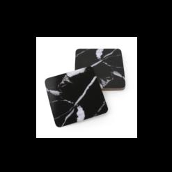 Onderzetters voor glazen Marble zwart of wit Salt & Pepper