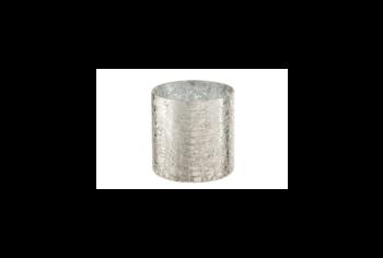 Theelichthouder van cracklé glas design J-line