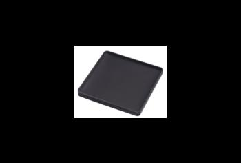 Glasonderzetters silicone vierkant zwart Yamazaki