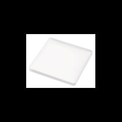 Vierkante glasonderzetter silicone wit