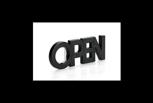 Originele flesopener Open zwart Qualy