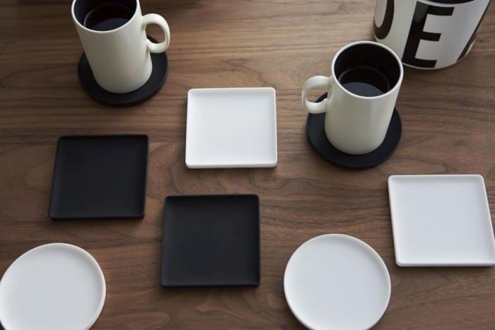 Glasonderzetters silicone vierkant wit of zwart Yamazaki