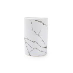 Tandenborstel beker Marble wit of zwart Salt & Pepper