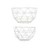 Set 2x grijze design fruitmand Linea